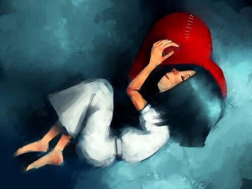 무한한 사랑 - 누워 있는 소녀