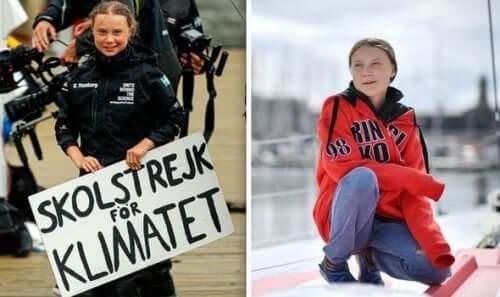 그레타 툰베리 - 두가지 사진
