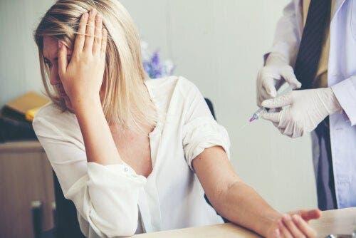 바늘에 대한 두려움: 첨단공포증