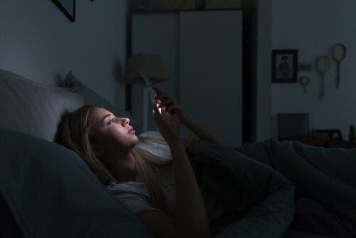 전자기기와 수면 변경